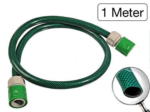 MS-Warenvertrieb Gartenschlauch-Verbinderset 1/2 Zoll 1 Meter - zur Verbindung des Schlauchwagen mit einem Wasserhahn