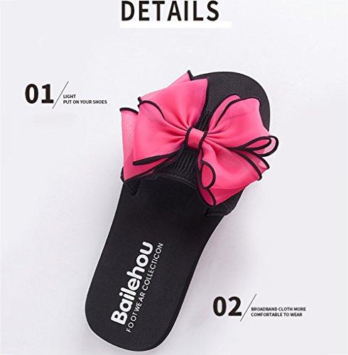 Cool Lightweight Salvaje Mujeres verano Temporada de 003 Mar Zapatos Pajarita Sandalias Antideslizante Zapatilla Fondo grueso playa 3cm de SSYY 7tXz7