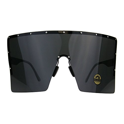 Polarized Extra Large Face Mask Futuristic Shield Sunglasses All - Extra Large Sunglasses