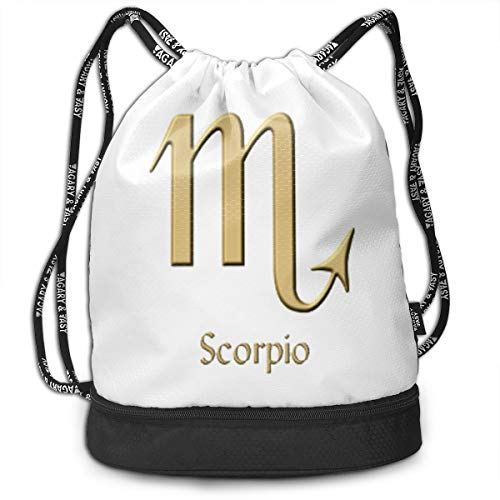 Funny Dance Gift Unisex Drawstring Fashion Beam Backpack Scorpio Print Backpack Travel Gym Tote Cosmetic Bag
