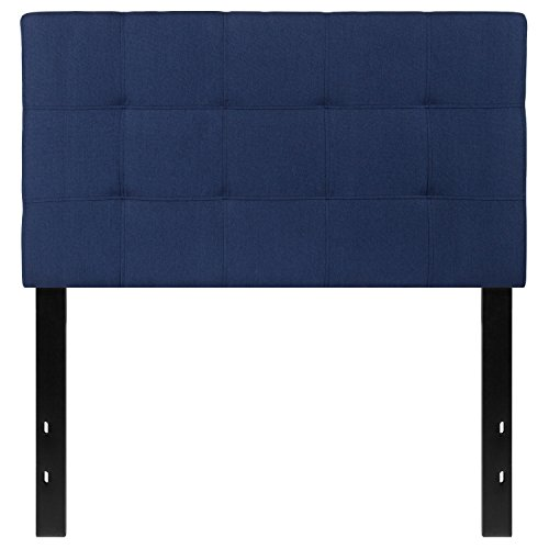 Flash Furniture Bedford Tufted Upholstered Twin Size Headboard in Navy Fabric - HG-HB1704-T-N-GG