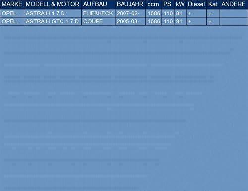 ETS-EXHAUST 3230 Mittelrohr Auspuff f/ür ASTRA H ASTRA H GTC 1.7 D FLIE/ßHECK COUPE 110hp 2005-