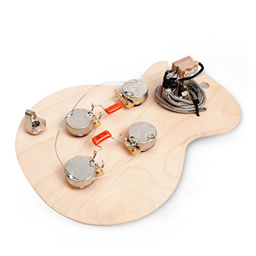 GoldenAge Pre-wired Harness for Gibson Les Paul with Standard-Shaft CTS Pots (Best Les Paul Wiring Harness)