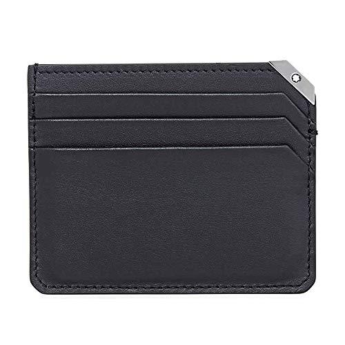 Mont Blanc 114674Urban Spirit Black Leather Wallet 6CC–Black