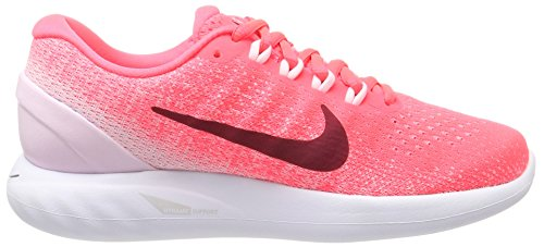 Nike Wmns Lunarglide 9, Zapatillas de Entrenamiento Para Mujer Rojo (Rouge Cocktail/blanc/rose Arctique/rouge Noble)