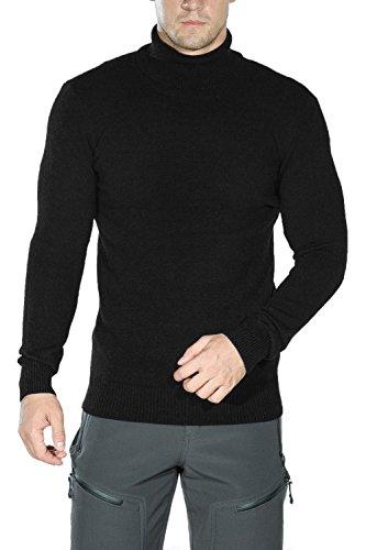 Classic Cashmere Turtleneck Sweater - Ninovino Men's Cashmere Sweater - Knitted Turtleneck Slim Fit Black L