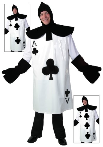 Playing Card Costume (Fun Costumes Ace Of Clubs Card Costume Standard)