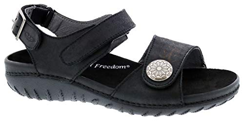 (Drew Woman Walkabout Black Leather 9 X-Wide (2E) US)