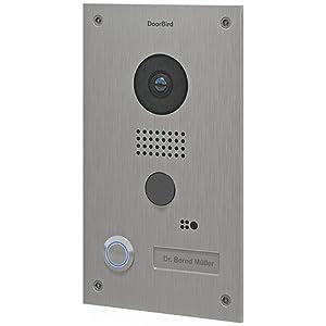 Doorbird D202 WLAN-Video-Türsprechanlage, Unterputz-Version mit Edelstahlgehäuse