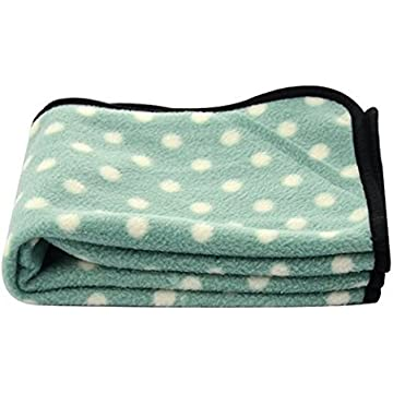 Color You Small Pet Dog Cat Puppy Kitten Soft Blanket Polar Fleece Mat Pad Bed with Spot Design For Car, Lap, Sofa, Pet Bed, Crate, Kennel and Carrier (L, Green)