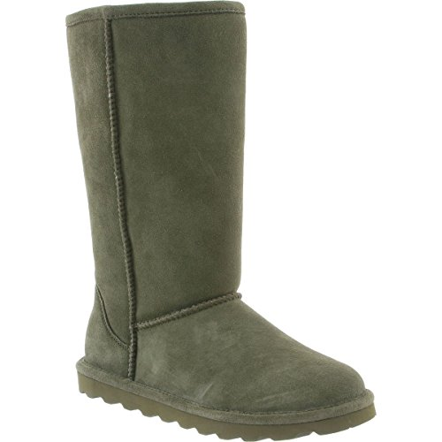 BearPaw Womens Elle Tall Winter Boot Olive Size 7