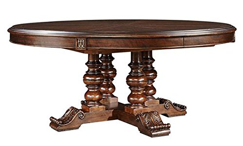 Stanley Round Dining Table (Casa D'Onore Dark Walnut Round Dining Table)