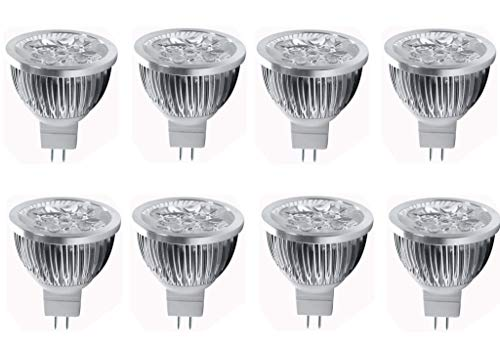 JKLcom 4W LED MR16 Bulbs 12V 4W LED Spotlight Bulb for Landscape Track light, MR16 GU5.3 Base,12 Volt,4W(35W Equivalent Halogen Replacement),Warm White 3000K,8 Pack