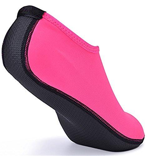 Yoga Pool Socks Surf Quick Men Kids and Dry Lightweight Beach Aqua MIUINCY Water For Women Pink Shoes 1qO4wpnZv