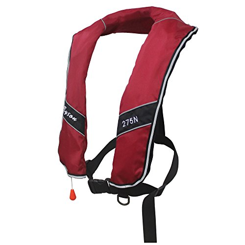 Premium Quality Manual Inflatable Life Jacket Classic Design Life Vest Inflate Survival Aid PFD 275N Buoyancy XXXL Size for Adult - Classic Belt Flotation