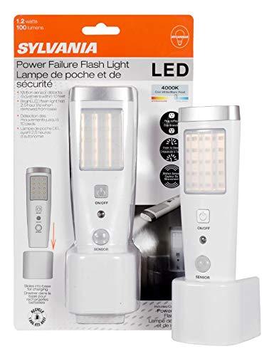 SYLVANIA General Lighting Sylvania 60138 Induction Charge LED Nightlight with Motion Sensor and Emergency Flashlight Night Light, White