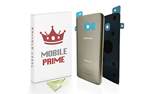 MobilePrime Silver Replacement Back Glass Back Cover Compatible for Samsung Galaxy S7