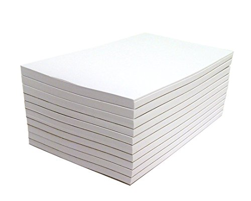 Memo Pads - Note Pads - Scratch Pads - Writing pads - 10 Pads with 50 sheets in Each Pad (4 x 6 (Bright Chipboard)