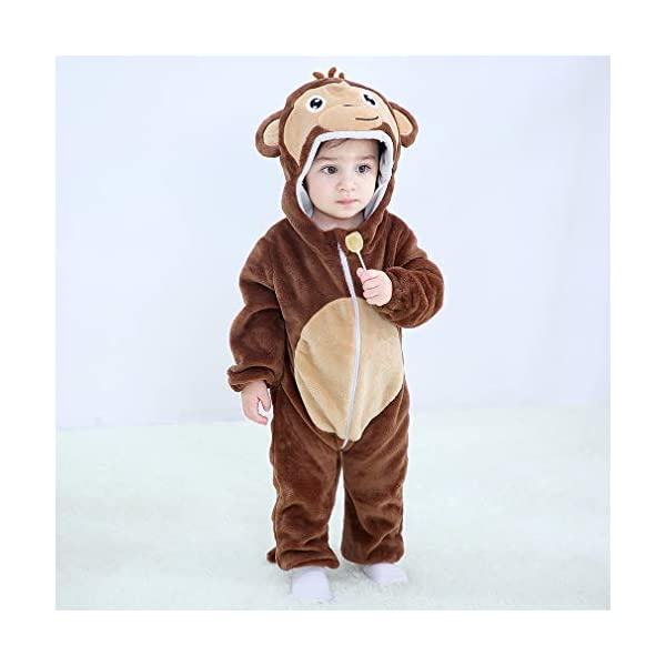 Michley Bambini Pagliaccetti Unisex neonata con Cappuccioanimali di Flanella per 0-3Anni 2