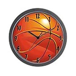 CafePress Basketball Room Decor Wall Clock - Standard Multi-color