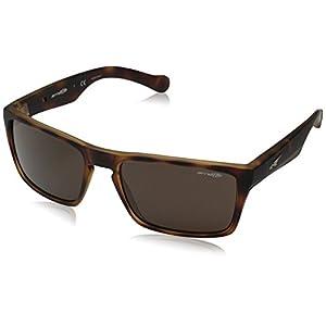 Arnette Specialist AN4204-04 Rectangular Sunglasses, Brown, 59 mm