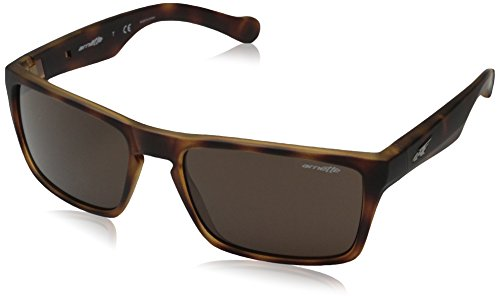 Arnette Specialist AN4204-04 Rectangular Sunglasses, Brown, 59 mm