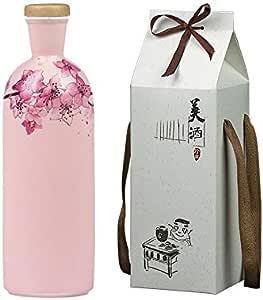 WUZHONGDIAN Botella de Vino de cerámica Bote de Vino, decoración Creativa, Botella sellada vacía, decoración del hogar, 500 ml (edición: Rosa con Caja de Regalo): Amazon.es: Deportes y aire libre