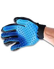 Comfortable Pet Grooming Glove Gentle Deshedding Brush Gloves Massage Tool for Dog Cat