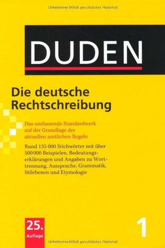 Duden 01. Die deutsche Rechtschreibung. Buch und CD-ROM