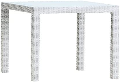 Keter - Mesa de comedor exterior Quartet de 4 plazas, Color blanco ...