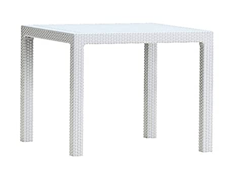 Keter - Mesa de comedor exterior Quartet de 4 plazas, Color blanco: Amazon.es: Jardín