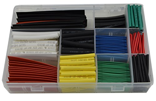 URBEST¨ 300Pcs 2:1 Heat Shrink Tubing Tube Sleeving Wrap Cable Wire 6 Color 11Size