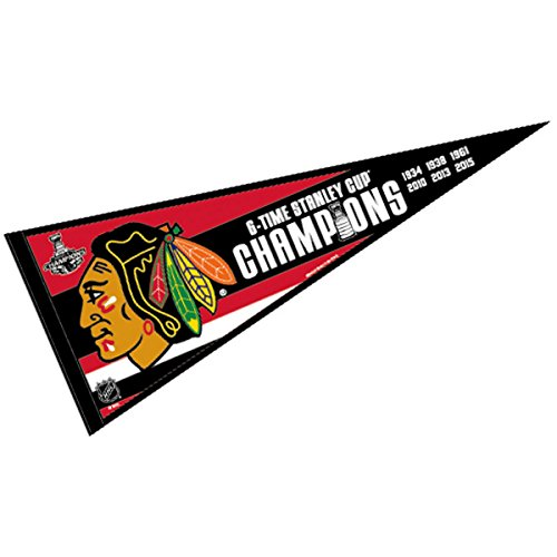 Chicago Blackhawks Official NHL 30 inch 2015 Stanley Cup Champions Wool Pennant by Wincraft 074119
