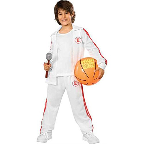 High School Musical Deluxe Troy Warm-Up Jersey with Basketball Costume