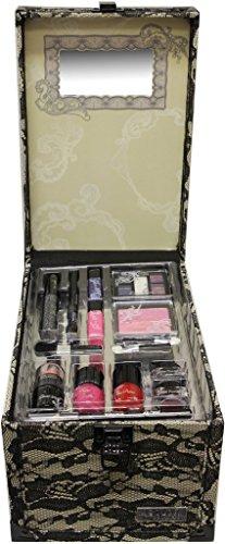 Wet n wild The Color Workshop Beauty Traveller 20 Piece make up Collection Large Train Case-Beige Lace