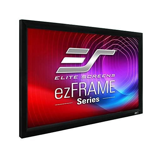 Elite Screens ezFrame Series, 92-inch Diagonal 16:9, Fixed Frame Home Theater Projection Projector Screen, Model: R92WH1