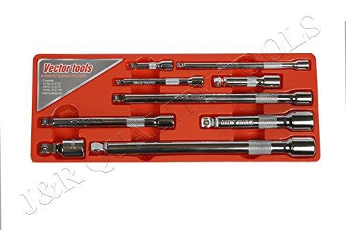 Vector Tools CR-V Wobble Angle Extension Bar Set, 9 Piece