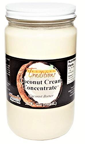 Tropical Traditions Coconut Cream Concentrate - 1-Quart (32 oz) (Tropical Traditions Coconut Oil)