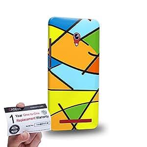 "Case88 [Asus Zenfone 6 6.0"" A600CG] 3D impresa Carcasa/Funda dura para & Tarjeta de garantía - Art Fashion Patched Up Pattern A"