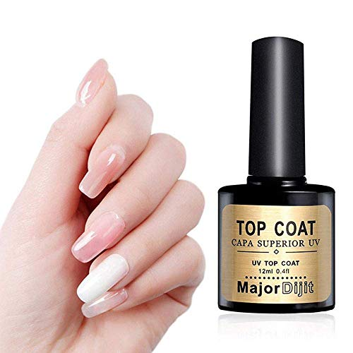 OSAYES Gel Nail Polish No Wipe Top and Base Coat Set,Shine Finish and Long Lasting,Quick Dry,10ml Each Bottle ()