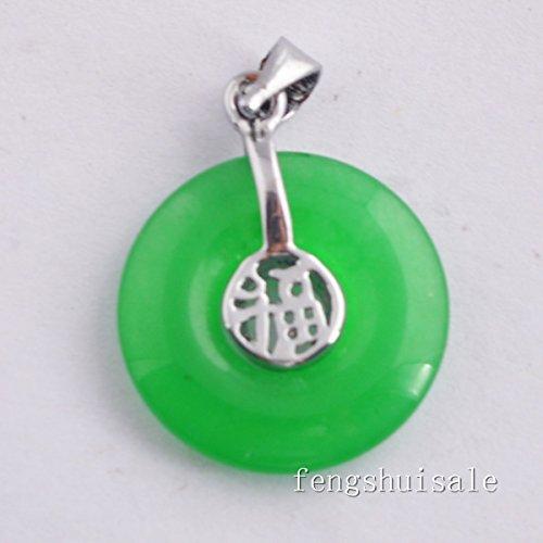 Fengshui Chinese Green Jade Pendant W Fengshuisale Red String Bracelet (Feng Shui Green Pendant)