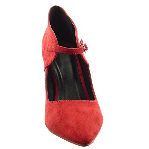 Sopily - damen Mode Schuhe Pumpe - Rot