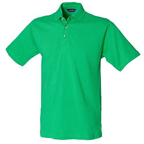Henbury Klassisches schwere Pique Polo Shirt H100Bright Grün groß