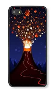 LYNNART Iphone 5S Gift Volcano Theme Phone Hard Case For Iphone 5S PC Black