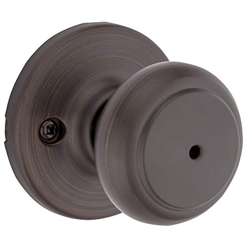(Kwikset 300CV 11P CP 93001-868 Cove Bed and Bath Knob in Venetian Bronze)