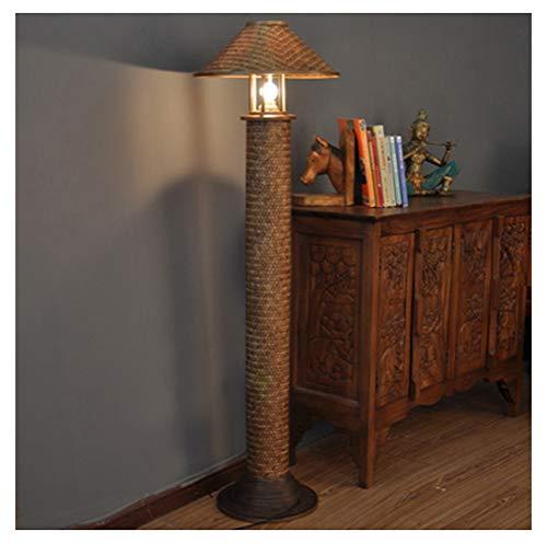 WPQW Floor Lamp Bedroom Living Room Creative Fashion Handmade Bamboo Lamp Individual Art Lighting - Standing lamp