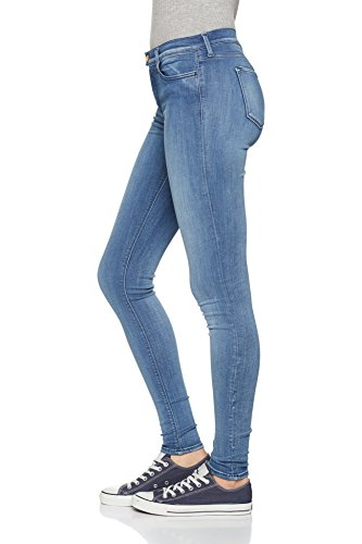 Ajustados Mujer Blue 010 Blue para Medium Azul Light REPLAY Light Touch Medium Jeans w0qFxXCa