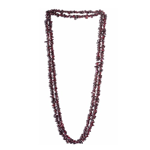 Endless Chips Necklace (Garnet Endless Chips Necklace 64 in)