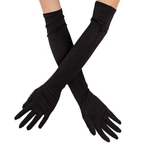 Silky Affection - Women's Opera Length Silk Gloves | Elegant and Distinctive – for Evening, Cocktail Party, Prom, Costumes | -