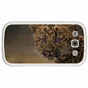 Personalized Samsung Galaxy S3 SIII 9300 Back Cover Diy PC Hard Shell Case Leopard White